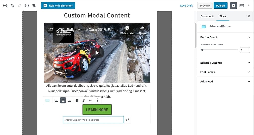 Modal Content