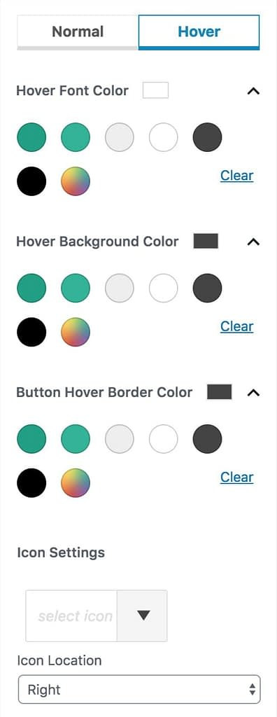Hover Settings