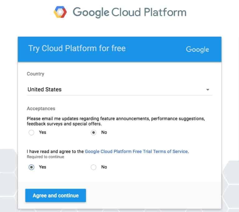 agree to terms google maps api kadence themes