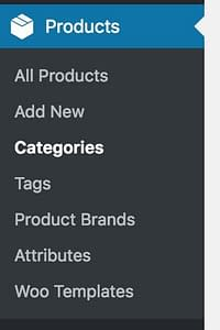 products categories