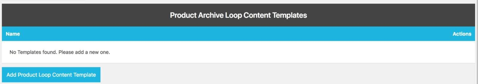 Create New Product Loop Template