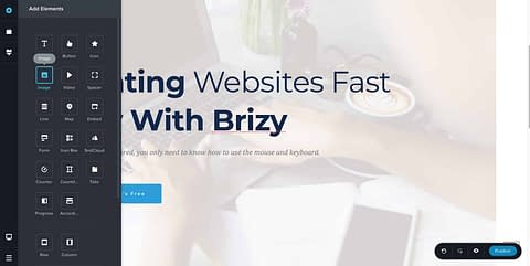 Using Brizy Featured Image