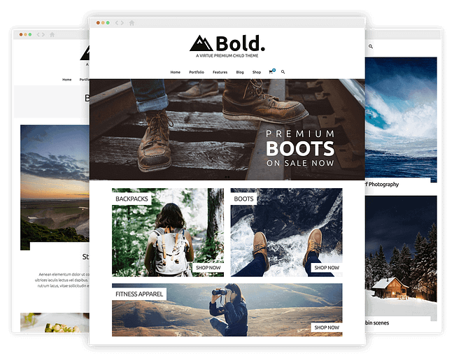 Virtue Bold WordPress Child Theme  by kadencewp