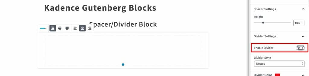 Enable Divider