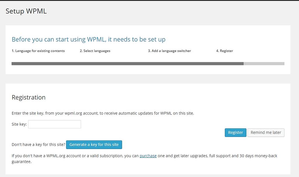registering wpml