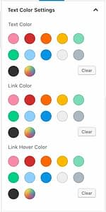 Text Color Settings