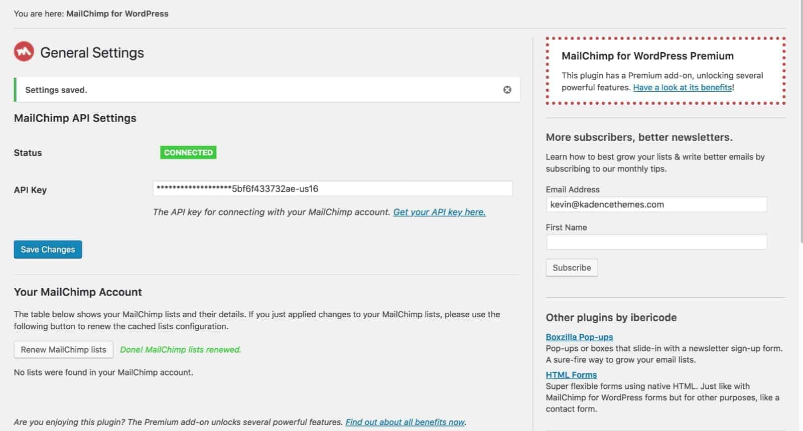 mailchimp-api-added-kadence-themes
