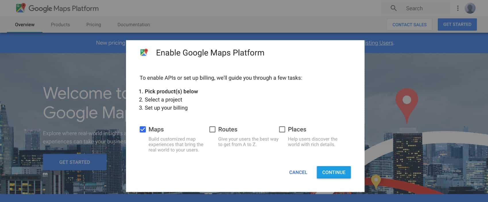 select google maps api kadence themes