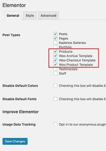 enable-woocommerce-elementor-kadence-themes