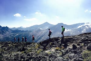 Photo from a recent backpacking trip with several members of the Kadence team.