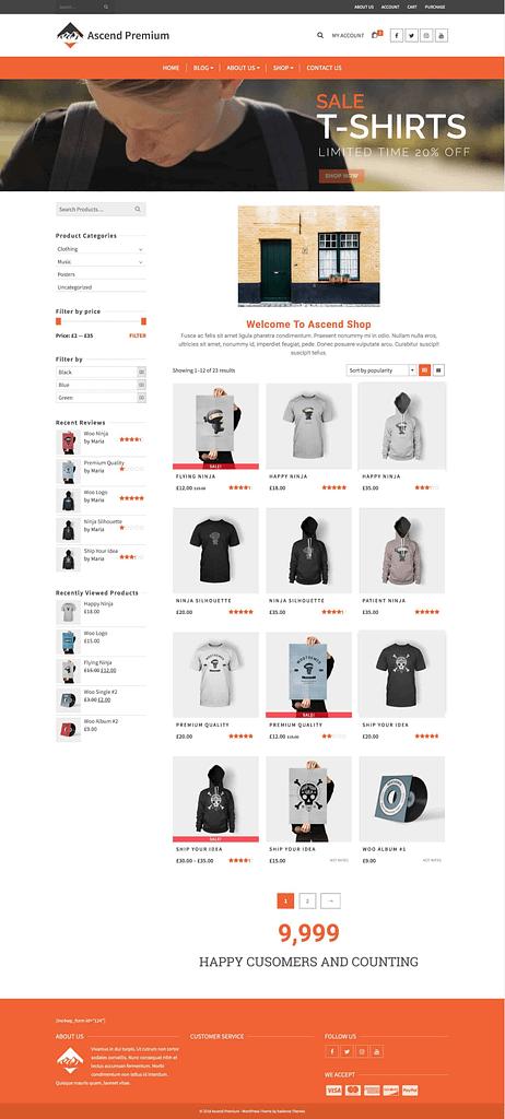 elementor woocommerce shop page kadence themes