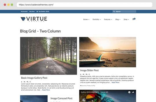 Virtue Premium Blog Two Column