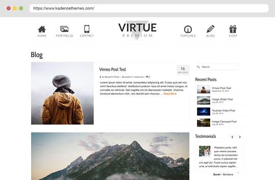 Virtue Premium Blog List
