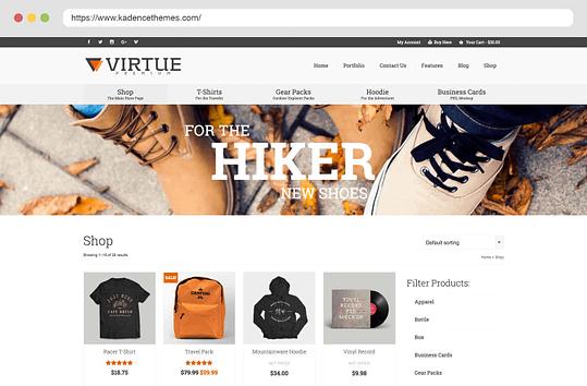 Virtue Premium Shop Layouts